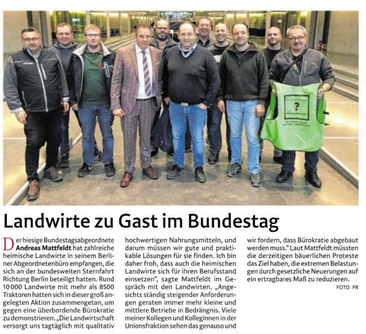 Landwirte zu Gast im Bundestag
