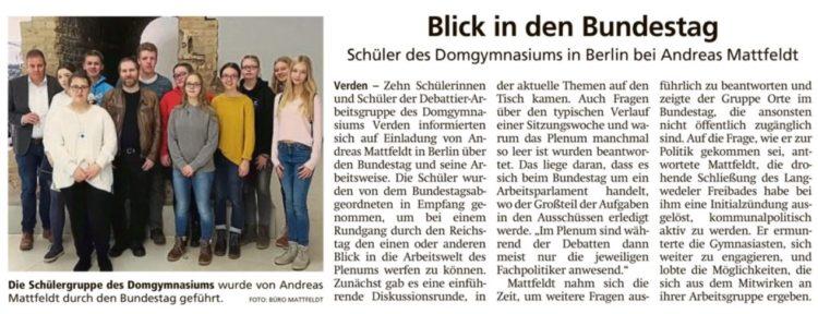 Schüler zu Besuch in Berlin
