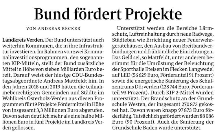 Hilfe aus Berlin gegen den Sanierungsstau