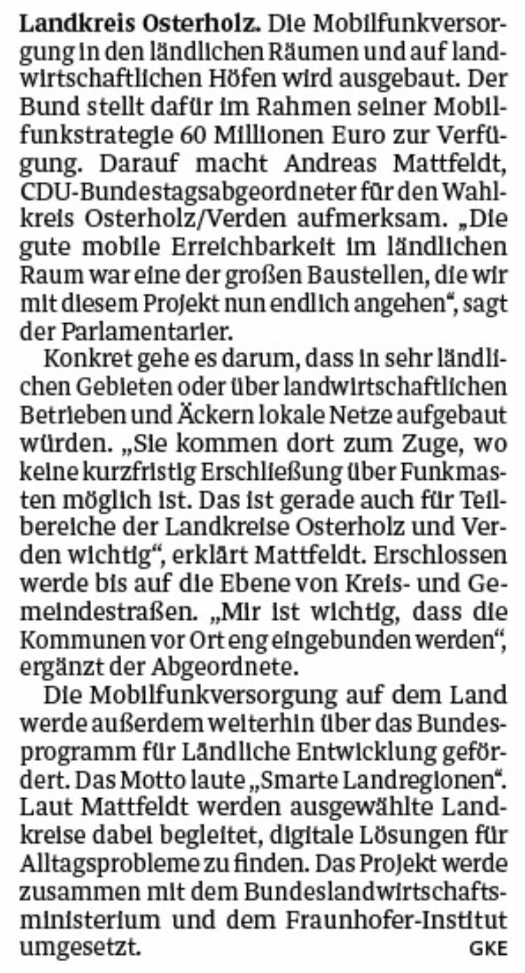 Mobilfunk-Ausbau im ländlichen Raum