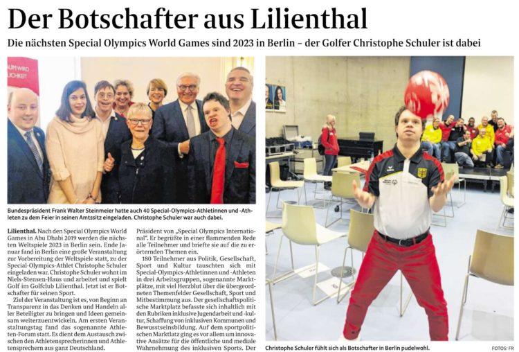 Persönliche Führung durch den Bundestag