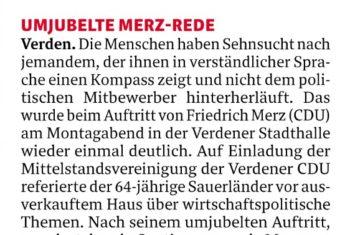 Friedrich Merz begeistert Menschen
