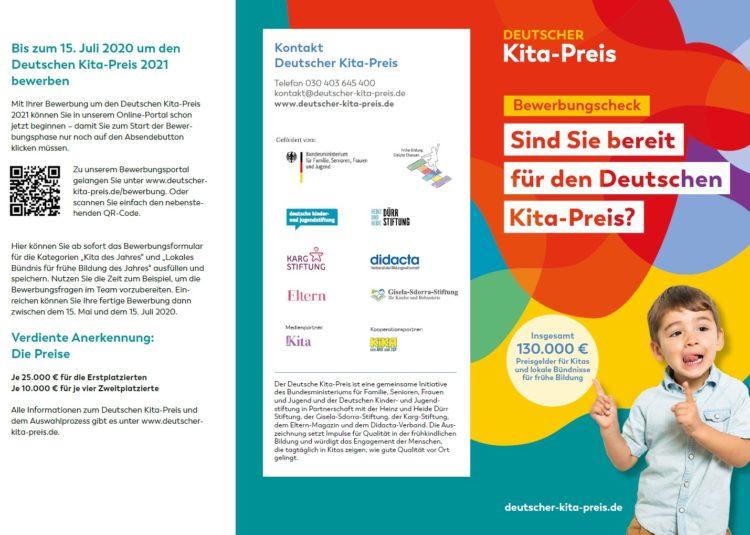 Deutschen Kita-Preis 2021: Jetzt bewerben und Herausforderungen frühkindlicher Bildung besser meistern