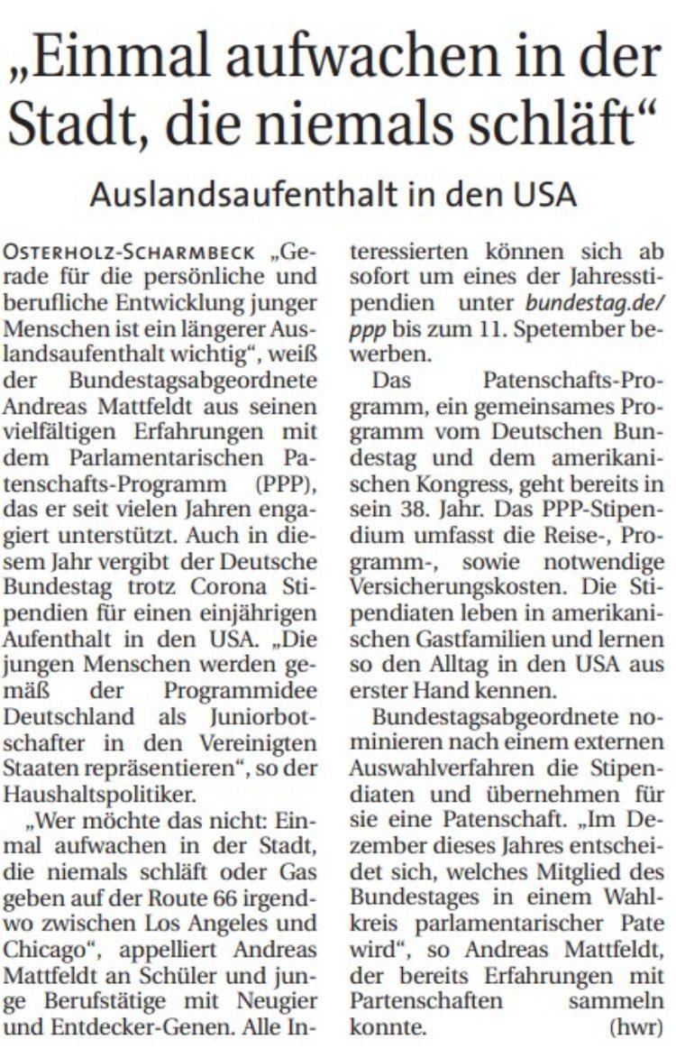 Stipendium des Bundestages