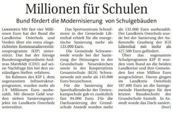 Bund unterstützt im Landkreis Osterholz acht Sanierungsprojekte