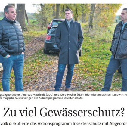 Mattfeldt: Weitere Verschärfungen nicht ohne Entschädigung der Landwirte