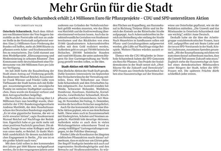 Ausdrücklicher Dank für das Engagement in Berlin
