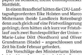 Landkreis Osterholz stark betroffen