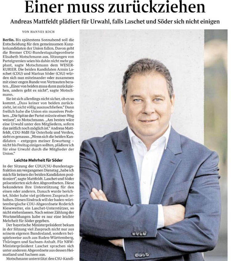 """,,Söder genießt in der Bevölkerung mehr Unterstützung"""""""