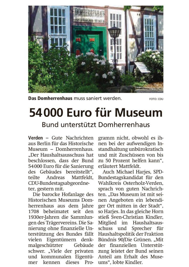 Bund unterstützt Domherrenhaus