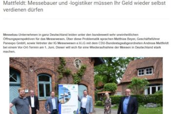 """,,Deutschland soll Messeland Nummer 1 bleiben"""""""