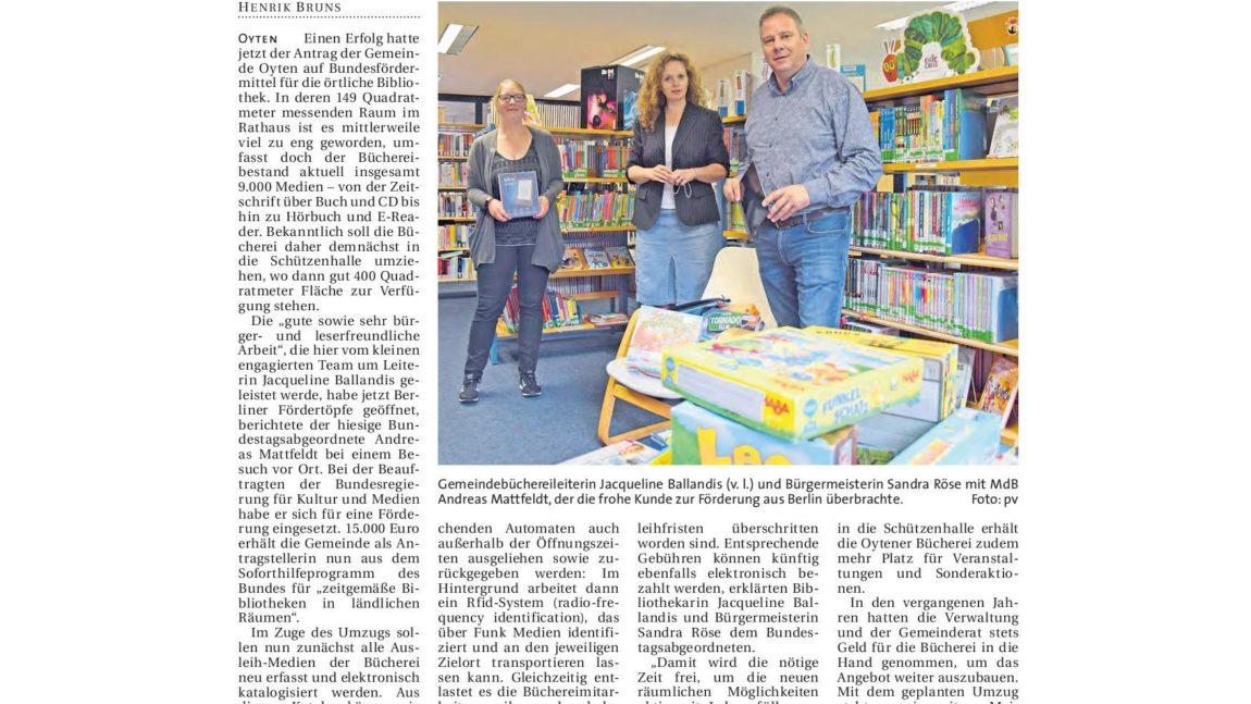 Bundesmittel für Bücherei