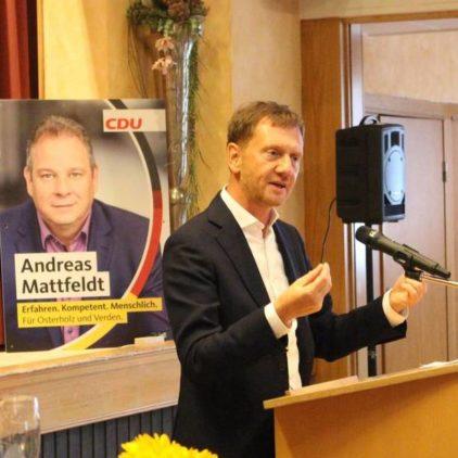Furioser CDU-Auftakt für den Bundestagswahlkampf mit Sachsens Ministerpräsident Michael Kretschmer in Langwedel