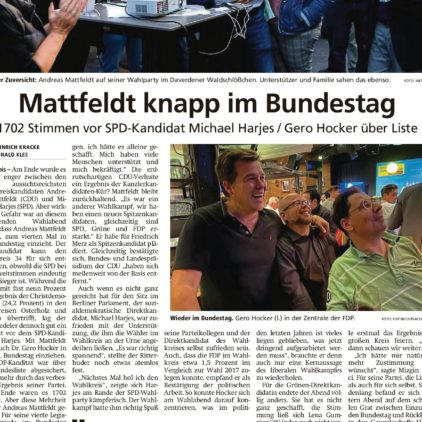 Mattfeldt knapp im Bundestag
