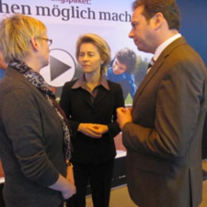 Jobcenter Verden im Gespräch mit Arbeitsministerin von der Leyen