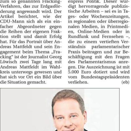 Hamme Report vom 25.02.2015
