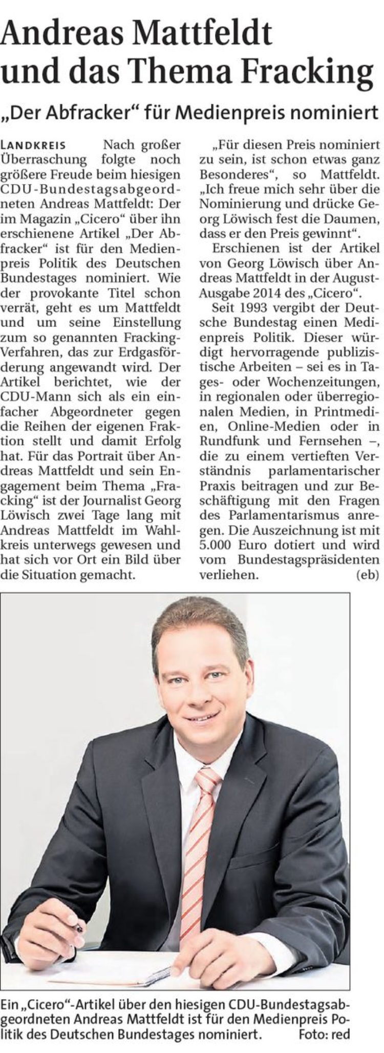 Hamme Report vom 25.02.2015