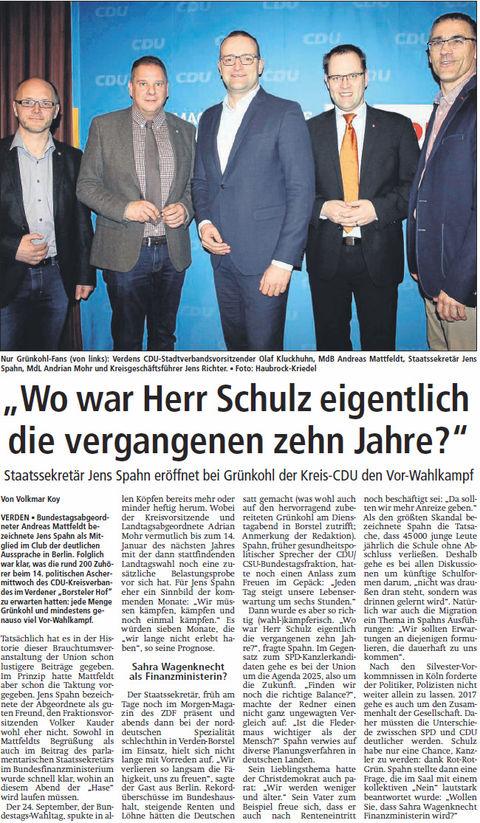Aller-Report 17 03 02 pol. Aschermittwoch