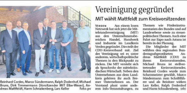 Mattfeldt wird Kreisvorsitzender