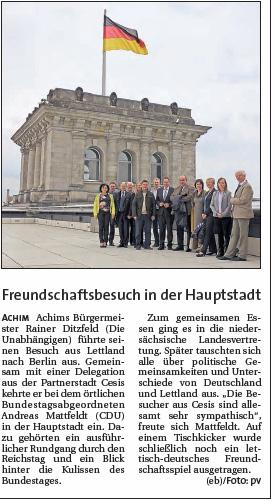 Aller Report 15 10 07 Besuch aus Achim in Berlin
