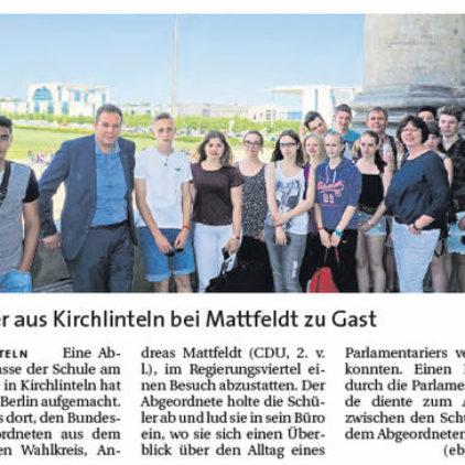 Kirchlintler Klasse besucht Mattfeldt