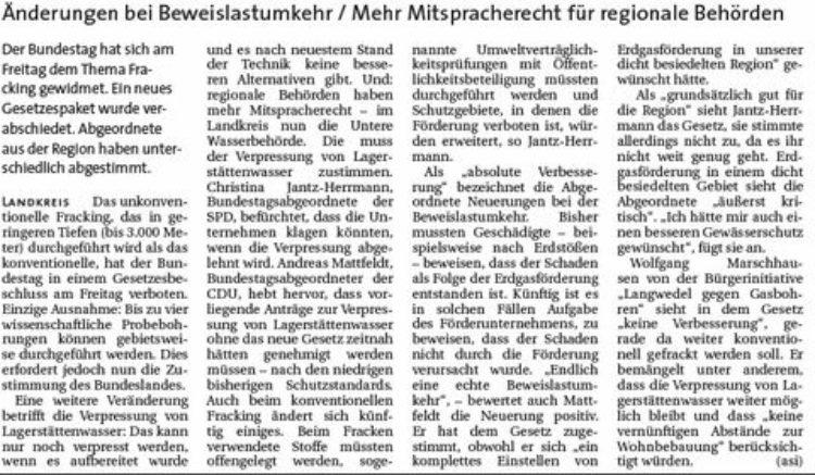 Gesetz zu Fracking in Berlin beschlossen