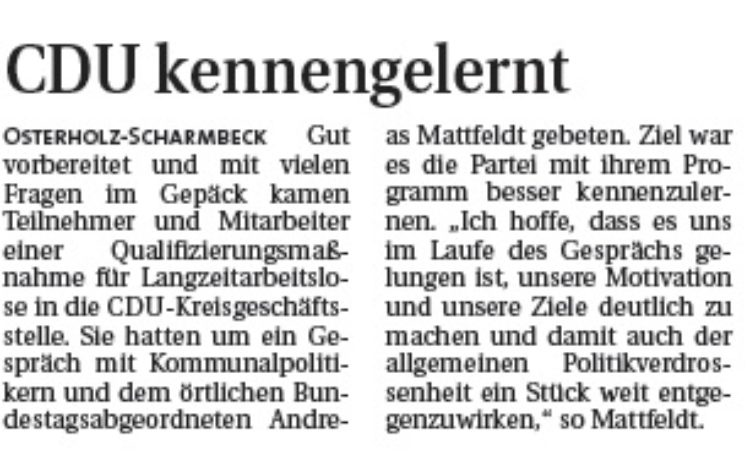 Hamme Report vom 31.05.2015