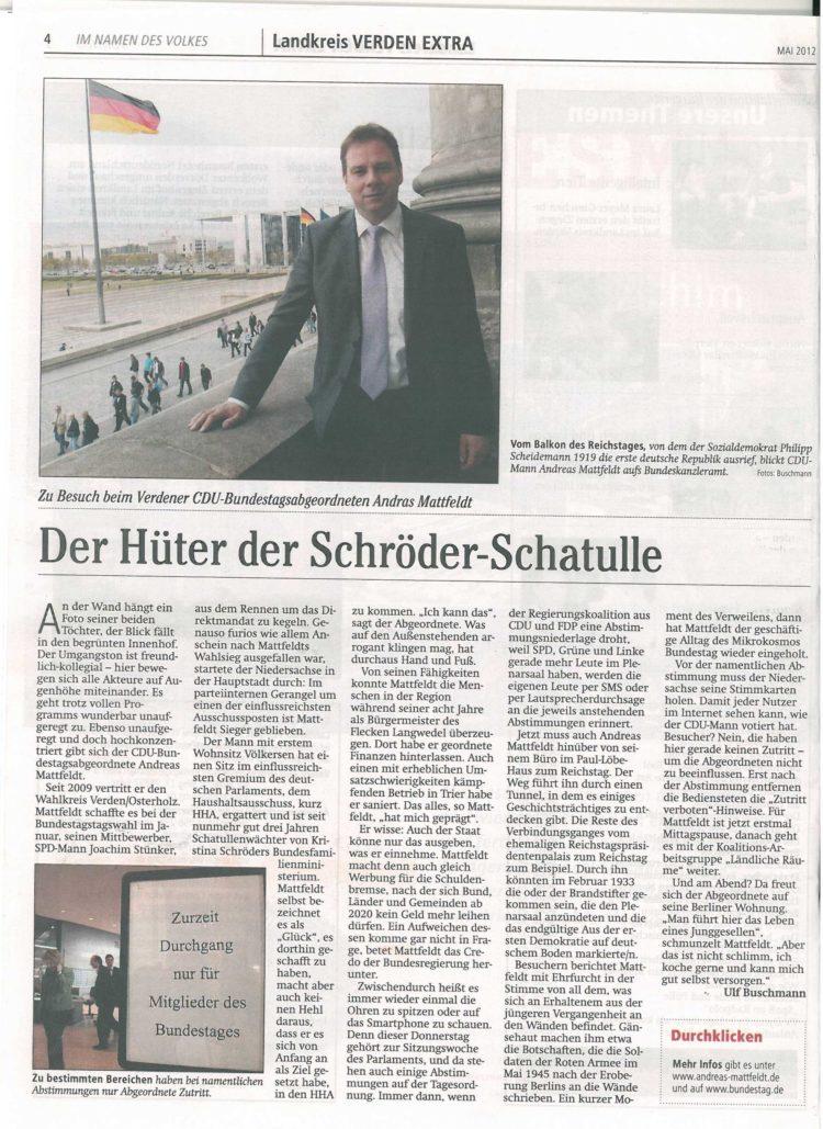 VERDEN EXTRA berichtet aus Berlin