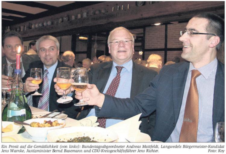 Bernd Busemann beim Aschermittwoch des CDU-Kreisverbandes