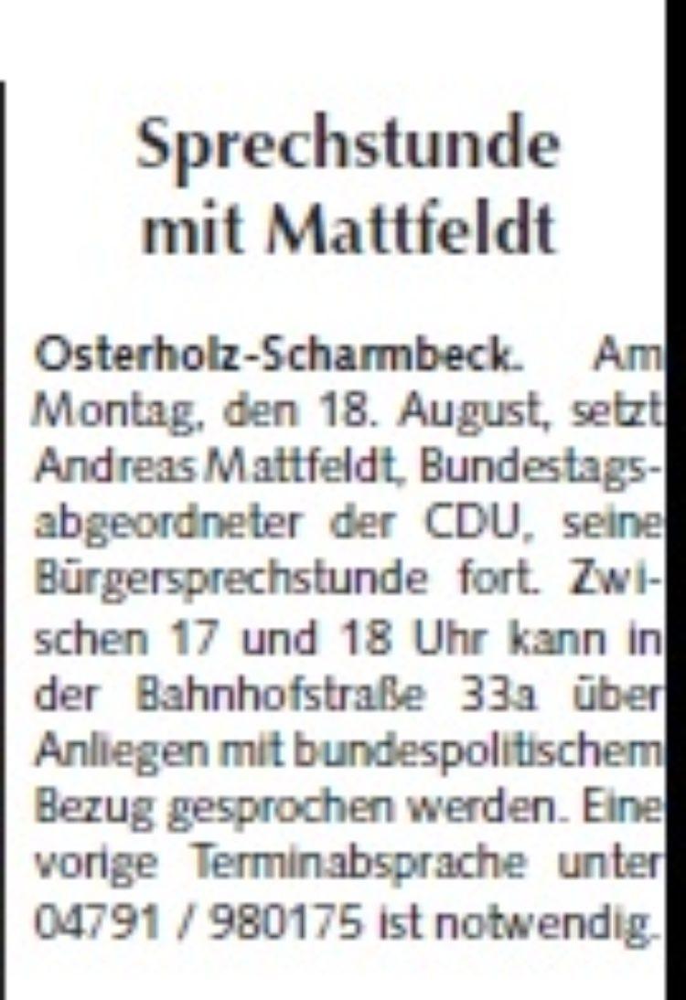 Osterholzer Anzeiger vom 13.08.2014