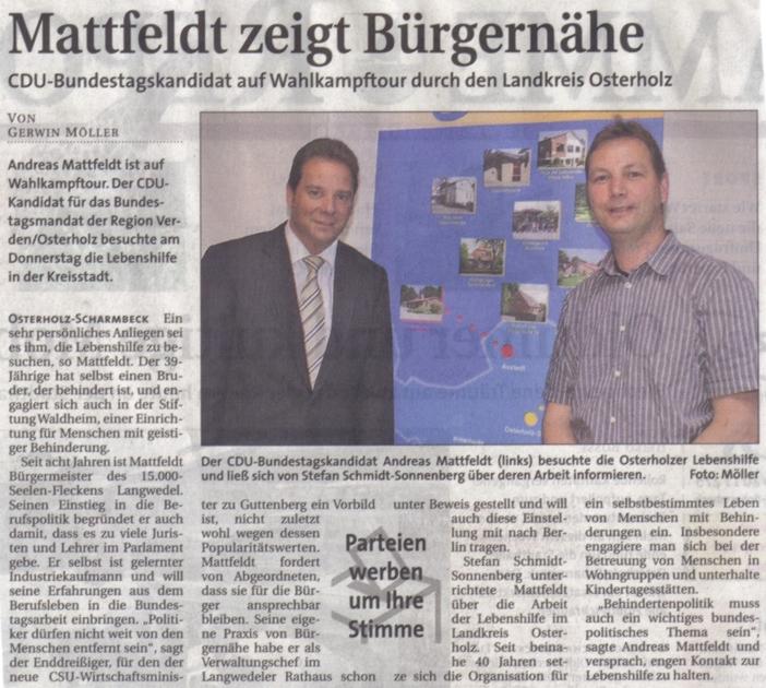 Mattfeldt zeigt Bürgernähe