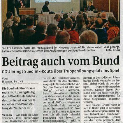 """""""Beitrag auch vom Bund"""""""