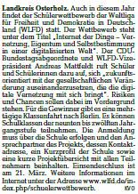Die Norddeutsche 16 02 09 wettbewerb