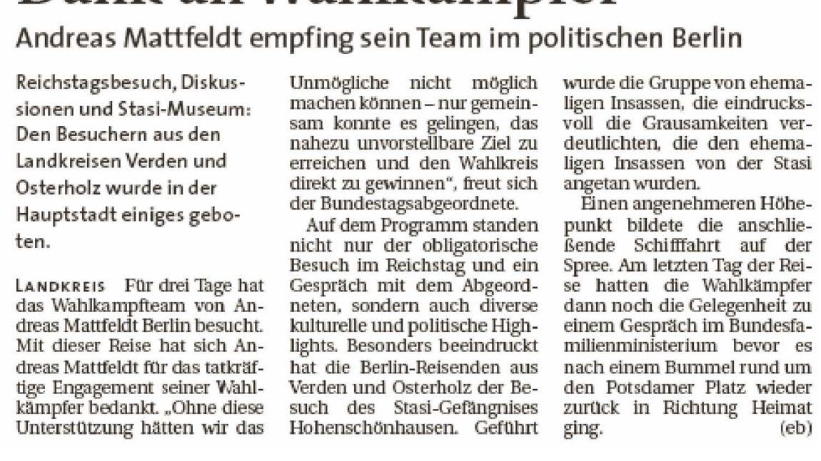 Team des Wahlkreis 35 in Berlin