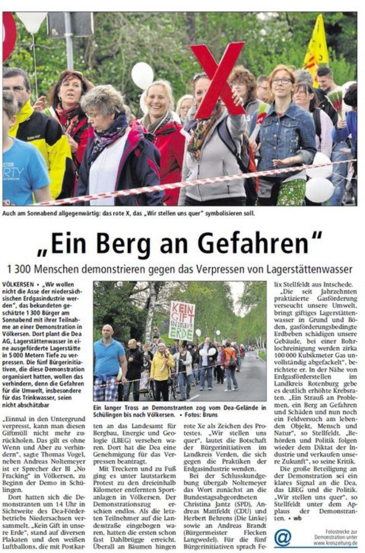 Kreiszeitung vom 11.05.2015