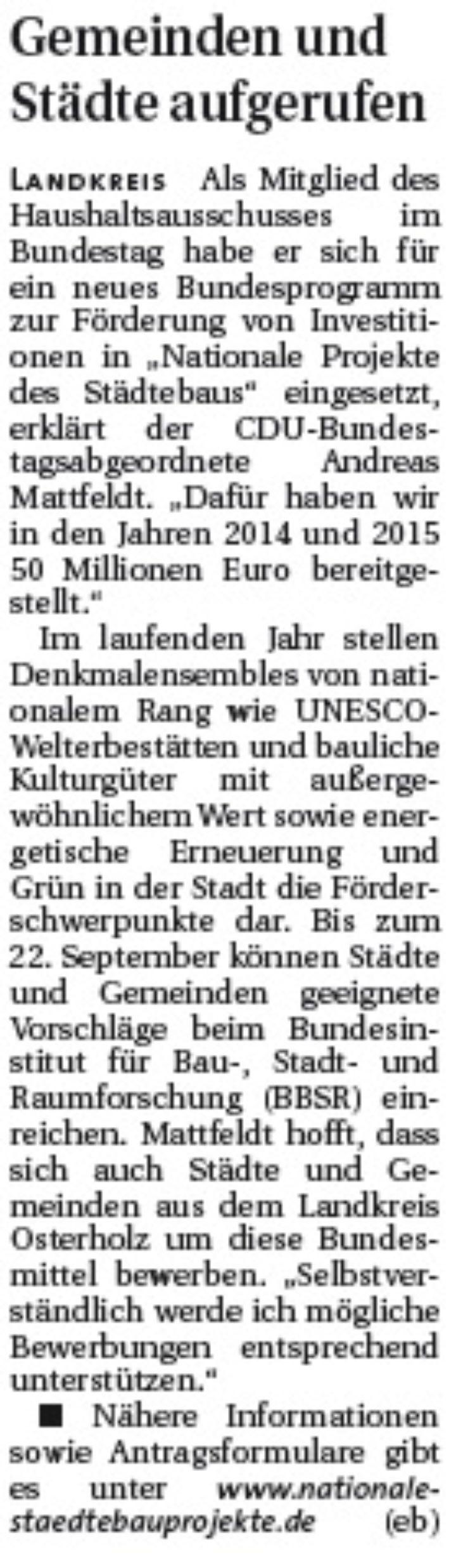 Hamme Report vom 13.08.2014