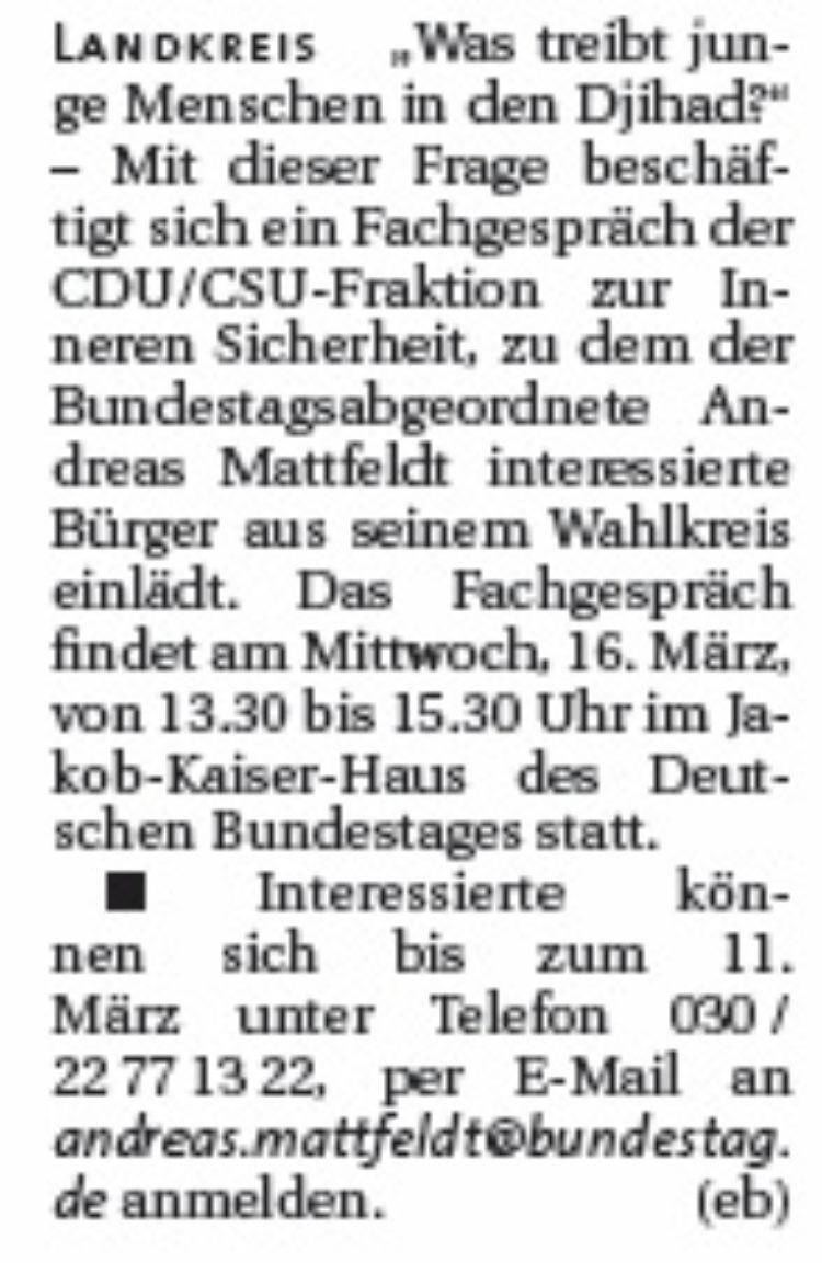 Fachgespräch im Bundestag