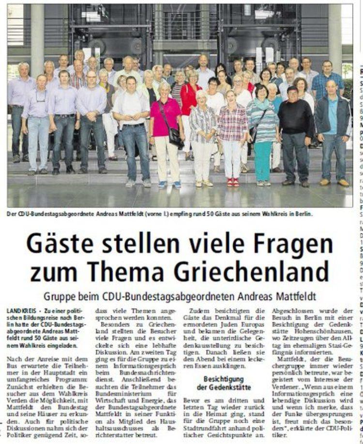Kreiszeitung vom 31.07.2015