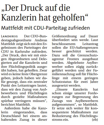 Hamme Report 16-12-15 Parteitag