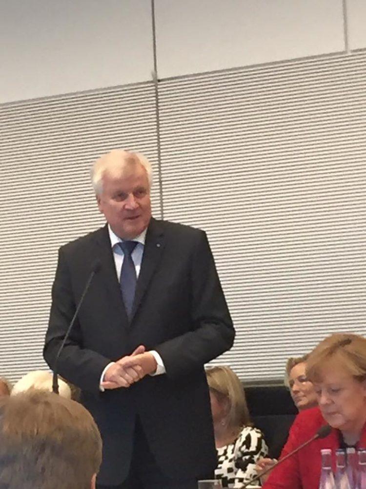 Fraktionssitzung mit Horst Seehofer