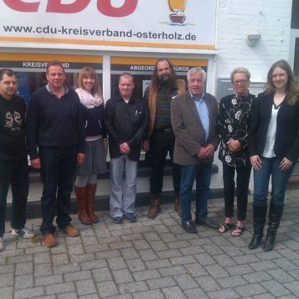 Langzeitarbeitslose besuchen CDU-Politiker in Osterholz-Scharmbeck