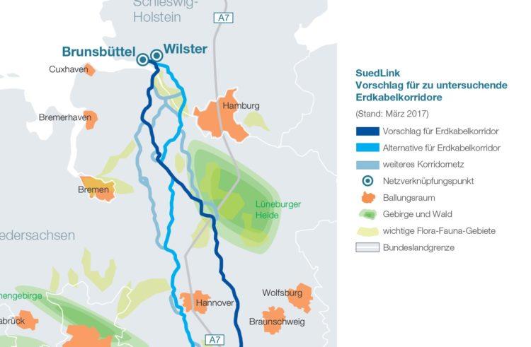 Stromtrasse SuedLink wird nicht durch Kreis Verden gehen