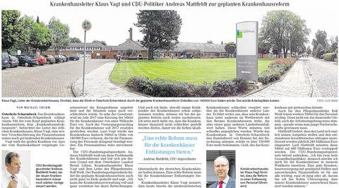 OHZ-Kreisblatt 15 08 13 Krankenhausreform
