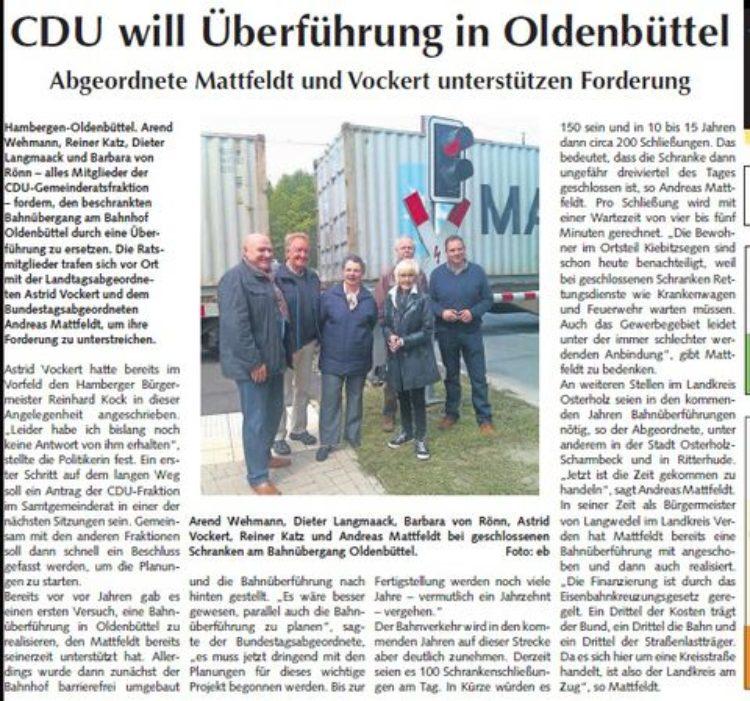 Osterholzer Anzeiger vom 31.05.2015
