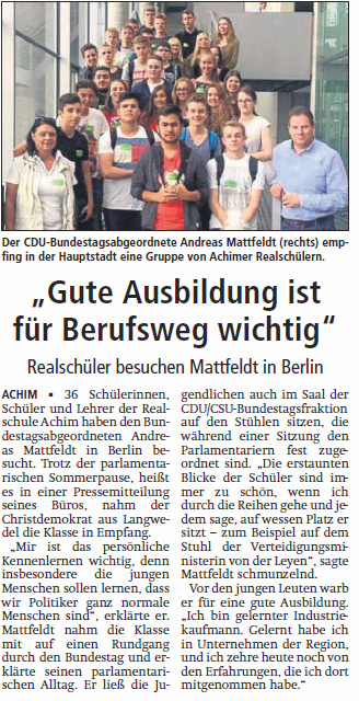 PM Besuch Realschule