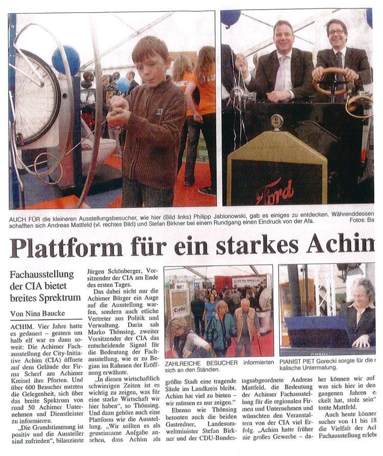 Plattform für ein starkes Achim