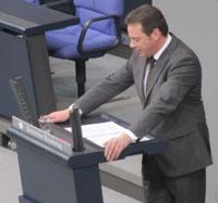 Rede im Bundestags-Plenum gegen 17 Uhr