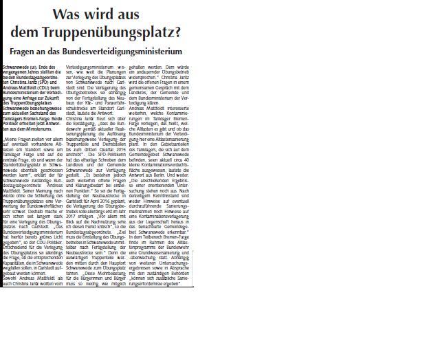 Osterholzer Anzeiger 12.2.2014