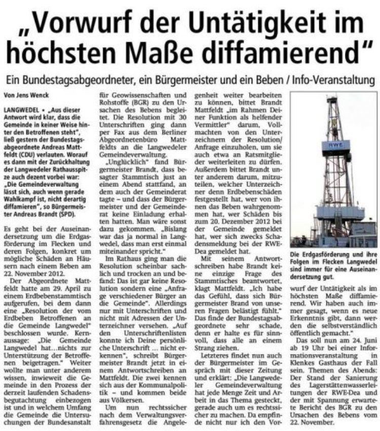 Erdgasförderung und ihre Folgen