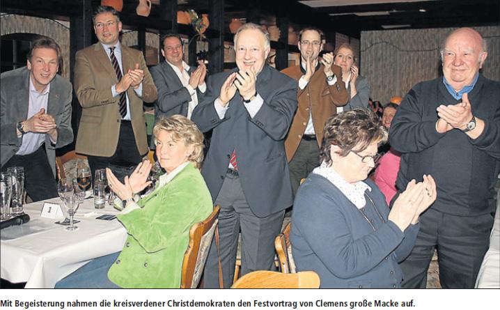 Politischer Aschermittwoch der Kreis-CDU mit Clemens große Macke